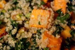 Kale, Quinoa and Yam Salad3