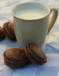 Chocolate Nutella Macarons