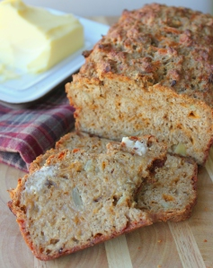 Cheesy Caramelized Onion Beer Bread