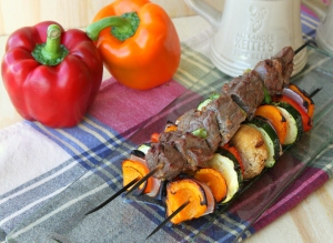 Ginger Beef Kabobs with Grilled Vegetables3