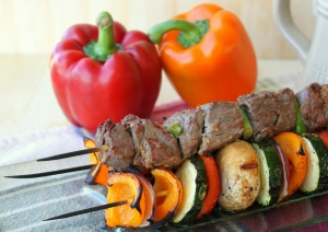 Ginger Beef Kabobs with Grilled Vegetables4