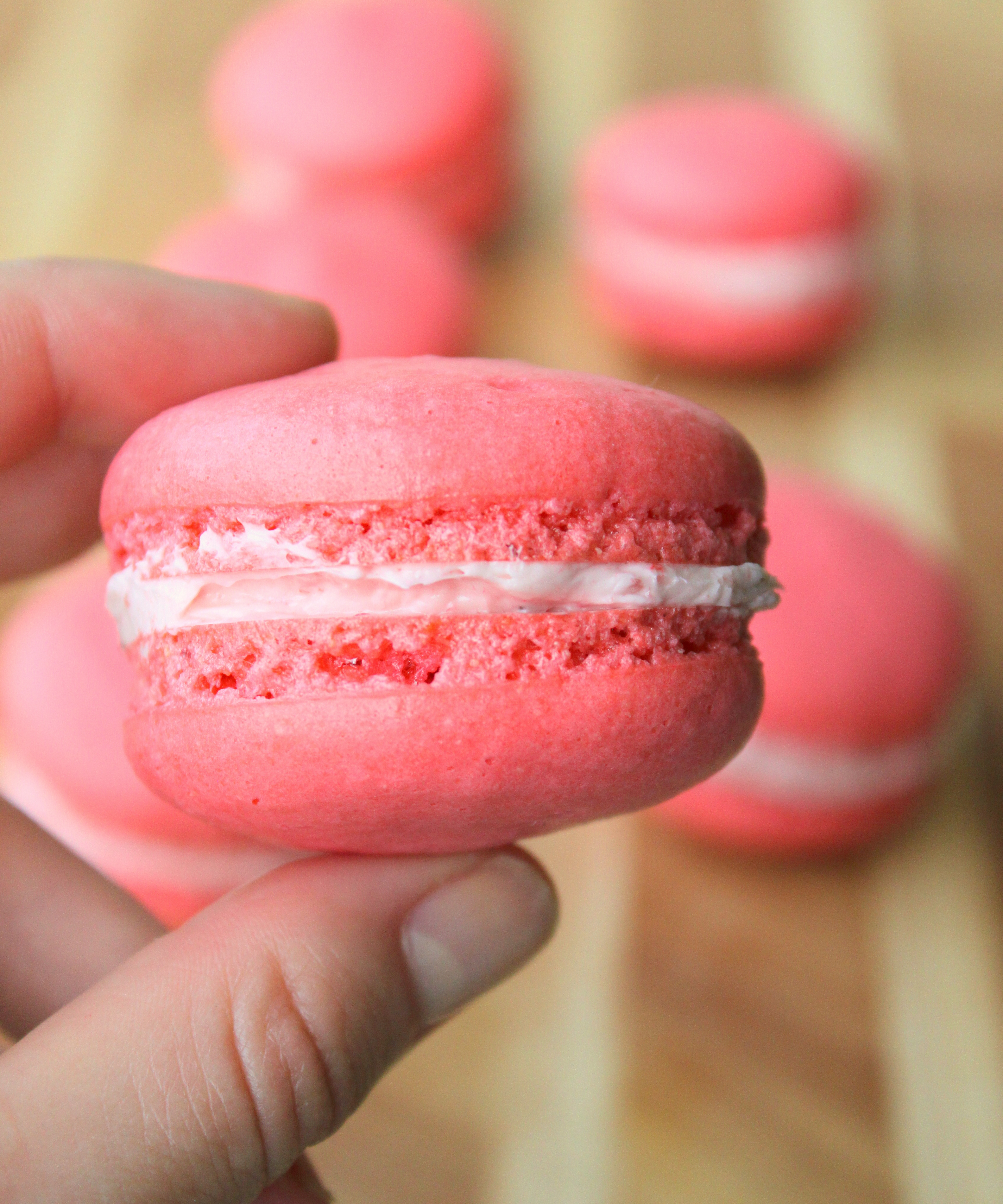 Strawberry Macarons with Strawberry Buttercream4