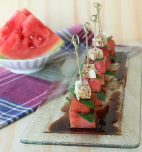 Watermelon, Mint and Feta Skewers4